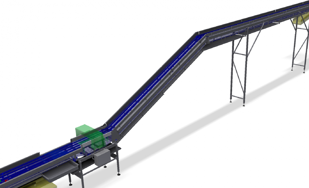 Steig-Ablasse conveyor