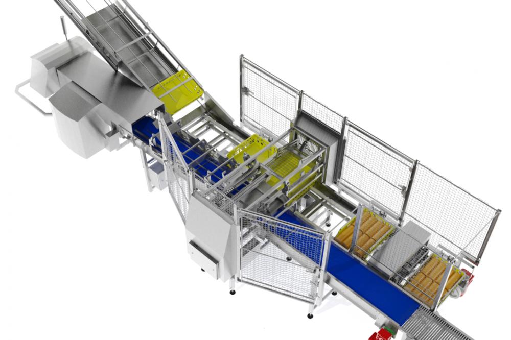 Kortlever crate loading system