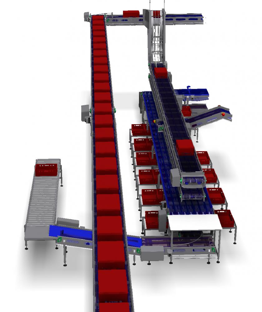 Kortlever deboning belts and crates