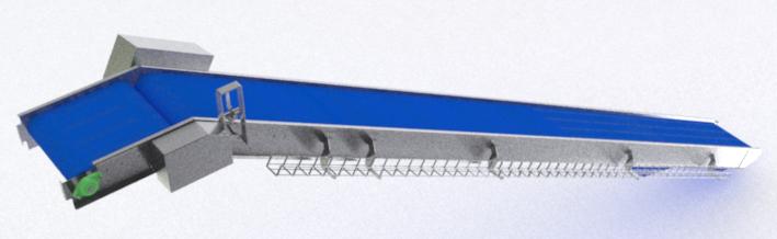 Kortlever universal conveyor system z-transport